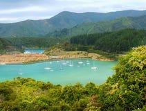 La Reine Charlotte Sound, Marlborough, NZ Image libre de droits