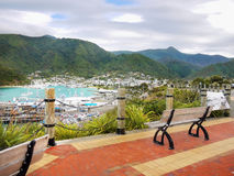 La Reine Charlotte Sound, port de Picton, Nouvelle-Zélande Images libres de droits