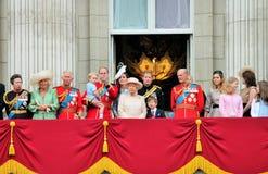 La Reine Elizabeth Buckingham Palace, Londres en juin 2017 - en s'assemblant le prince de couleur dévastez George William, Kate C Image libre de droits