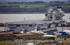 La Reine Elizabeth de HMS de porte-avions Image stock