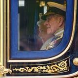 La Reine Elizabeth II et prince Philip images libres de droits