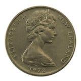 La Reine Elizabeth II sur la Nouvelle Zélande bien rayée Image libre de droits