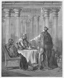 La Reine Esther dans les Rois Court illustration de vecteur