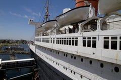 La Reine Mary Historic Ocean Liner Image stock