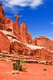 La Reine Nefertiti Rock Arches National Park Moab Utah images libres de droits