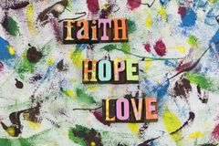 La religión de la pureza del amor de la esperanza de la fe cree imagen de archivo libre de regalías