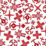 La religion croise le modèle sans couture rouge illustration de vecteur