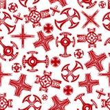 La religione attraversa il modello senza cuciture rosso illustrazione vettoriale