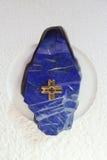 La reliquaire avec la particule de la croix sur laquelle Jésus était le Christ crucifié dans la chapelle du saint Dismas à Zagreb Images libres de droits