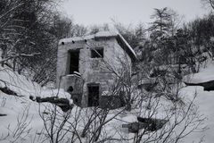 La reliquia dell'era stalinista in Kolyma (gulag) fotografie stock
