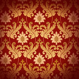 la Renaissance rouge décorative de fond illustration stock