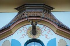 La renna di Natale nella città di Fussen della Germania Immagine Stock Libera da Diritti