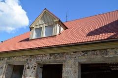 La renovación de una casa Imagen de archivo libre de regalías