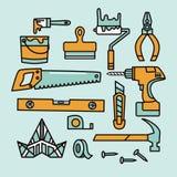 La renovación equipa iconos libre illustration