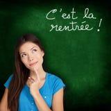 La Rentree Scolaire - francese di Cest di nuovo alla scuola Fotografie Stock Libere da Diritti