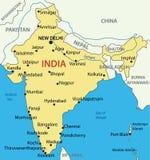 La República de India - mapa Foto de archivo libre de regalías