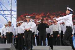 La représentation des danseurs, du choeur et des solistes de l'ensemble de chanson et danse de la flotte navale de la Mer Noire ( Images stock