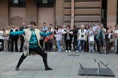 La représentation des soliste-danseurs de l'ensemble Imamat (Dagestan solaire) avec des danses traditionnelles du Caucase du nord Photos libres de droits