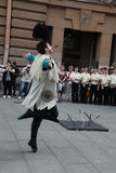 La représentation des soliste-danseurs de l'ensemble Imamat (Dagestan solaire) avec des danses traditionnelles du Caucase du nord Image stock