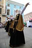 La représentation des soliste-danseurs de l'ensemble Imamat (Dagestan solaire) avec des danses traditionnelles du Caucase du nord Photographie stock