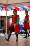 La représentation des soliste-danseurs de l'ensemble Imamat (Dagestan solaire) avec des danses traditionnelles du Caucase du nord Images stock
