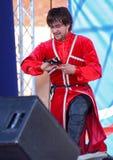 La représentation des soliste-danseurs de l'imamat d'ensemble (Dagestan solaire) avec des danses traditionnelles du Caucase du no Images stock