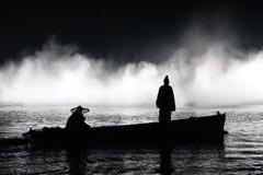 La représentation et la lumière d'air ouvert montrent dans le lac occidental, Chine Images libres de droits