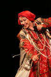 La représentation sur l'étape du chanteur folk national du babkina de nadezhda de chansons et de la chanson russes de Russe de th Image stock