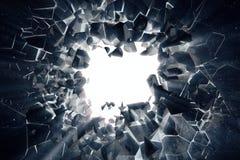 la representación 3d atormentó el fondo abstracto de la tierra con los rayos ligeros del volumen, efectos negativos de la foto Imagen de archivo libre de regalías