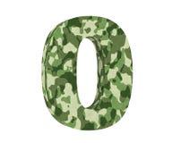 la representación 3D camufla el número 0 cero 3d rinden la ilustración ilustración del vector