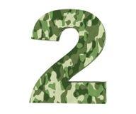 la representación 3D camufla el número 2 dos 3d rinden la ilustración libre illustration