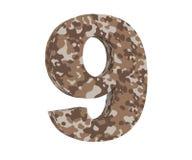 la representación 3D camufla el número 9 nueve 3d rinden la ilustración ilustración del vector