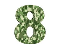 la representación 3D camufla el número 8 ocho 3d rinden la ilustración ilustración del vector