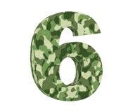 la representación 3D camufla número 6 seis 3d rinden la ilustración ilustración del vector