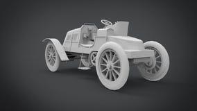 La representación retra clásica de los coches 3D resulta del uso de la licuadora stock de ilustración