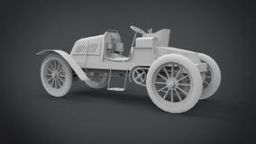 La representación retra clásica de los coches 3D resulta del uso de la licuadora ilustración del vector