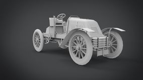 La representación retra clásica de los coches 3D resulta del uso de la licuadora libre illustration
