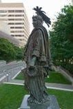 La reproduction de la statue en bronze de la liberté par Thomas Crawford est la caractéristique de couronnement du dôme du capito photographie stock