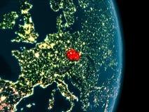 La repubblica Ceca alla notte Fotografia Stock Libera da Diritti