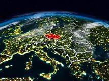 La repubblica Ceca alla notte Fotografie Stock
