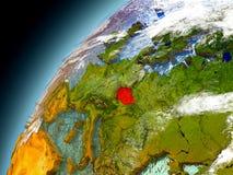 La repubblica Ceca dall'orbita di Earth di modello Immagine Stock