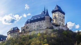La repubblica Ceca del castello di Karlstejn Fotografia Stock Libera da Diritti