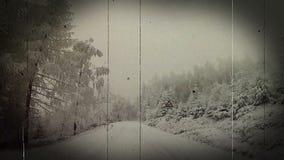 La repubblica Ceca della strada di inverno video d archivio