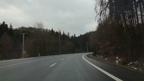 La repubblica Ceca della strada di inverno stock footage