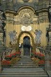 La repubblica Ceca dello stà del› del mÄ del ¡ del nà di Hornà della colonna di peste di Olomouc immagine stock libera da diritti