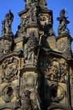 La repubblica Ceca dello stà del› del mÄ del ¡ del nà di Hornà della colonna di peste di Olomouc del dettaglio fotografia stock
