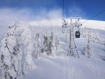 La repubblica Ceca di inverno di Snezka fotografia stock libera da diritti
