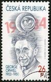 LA REPUBBLICA CECA - 2013: manifestazioni Eric Arthur Blair George Orwell 1903-1950 fotografia stock libera da diritti