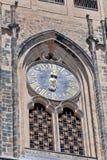 La repubblica Ceca, Praga: L'orologio sulla st Vitus Cathedral Fotografie Stock