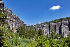 La repubblica Ceca - roccia di Adrspasko-Teplicke Fotografia Stock Libera da Diritti